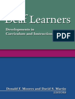 Deaf Learners; Developments in Curriculum and Instruction [1563682850]