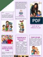 folleto preescolar
