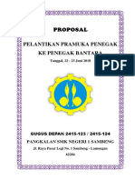 PROPOSAL PELANTIKAN BANTARA SMK NEGERI 1 SAMBENG