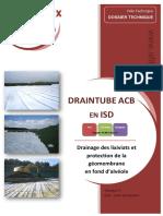 2012-04-Dossier Technique Draintube Acb Remplacementcouchesupport