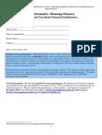 Housing Finance Questionnaire AUHF Financial Institutions Rev 14-11-13