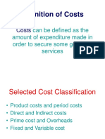 Definition of Costs