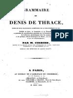 Grammaire de Denys de Thrace
