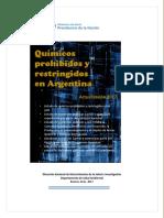 Químicos Prohibidos y Restringidos en Argentina 2017