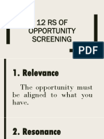 12 Rs of Opportunity ScreeninG