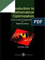 Mathematical Optimization Linear Program (1)