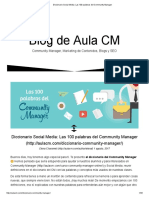 100 Palabras Community Manager