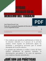 Las Prácticas Antisindicales en El Derecho Del Trabajo - Autor José María Pacori Cari