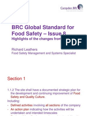 BRC Issue 8 Update | Hazard Analysis And Critical Control