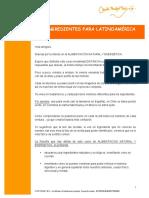 Ingredientes Latinoamérica