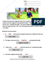 Answer Reading Comprehension Tiger and Magician