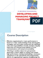 PROJECT TEAM All Presentations Ppt