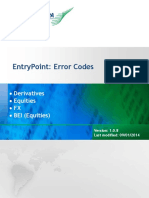 Entry Point Error Codes bmf
