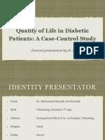 Journal Reading QoL in Diabetic Patients