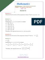 11 Maths NcertSolutions Chapter 9 1