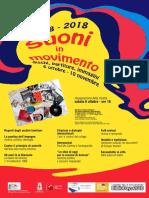 1968-2018 Suoni in movimento Reggio Emilia (Italy) - manifesto mostra