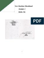 Module 1, Machine Shorthand