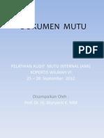 Dokumen Mutu (Prof. Wuryanti).ppt