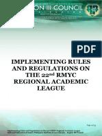 Nfjpiar3 1819 IRR No 9 22nd RMYC Regional Academic League Initial Draft