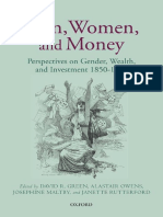 David R. Green, Alastair Owens, Josephine Maltby, Janette Rutterford - Men, Women, And Money_ Perspectives on Gender, Wealth, And Investment 1850-1930 (2011, Oxford University Press)
