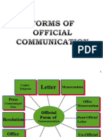Forms of Official Communications