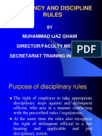 Efficiency & Discipline Rules