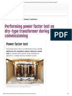 Power Factor Dry Type Transformer Testing