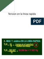 Tension en La Linea Rapida