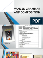 Advanced Grammar and Composition