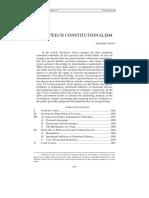 Tsesis Alexander, Free Speech Constitutionalism