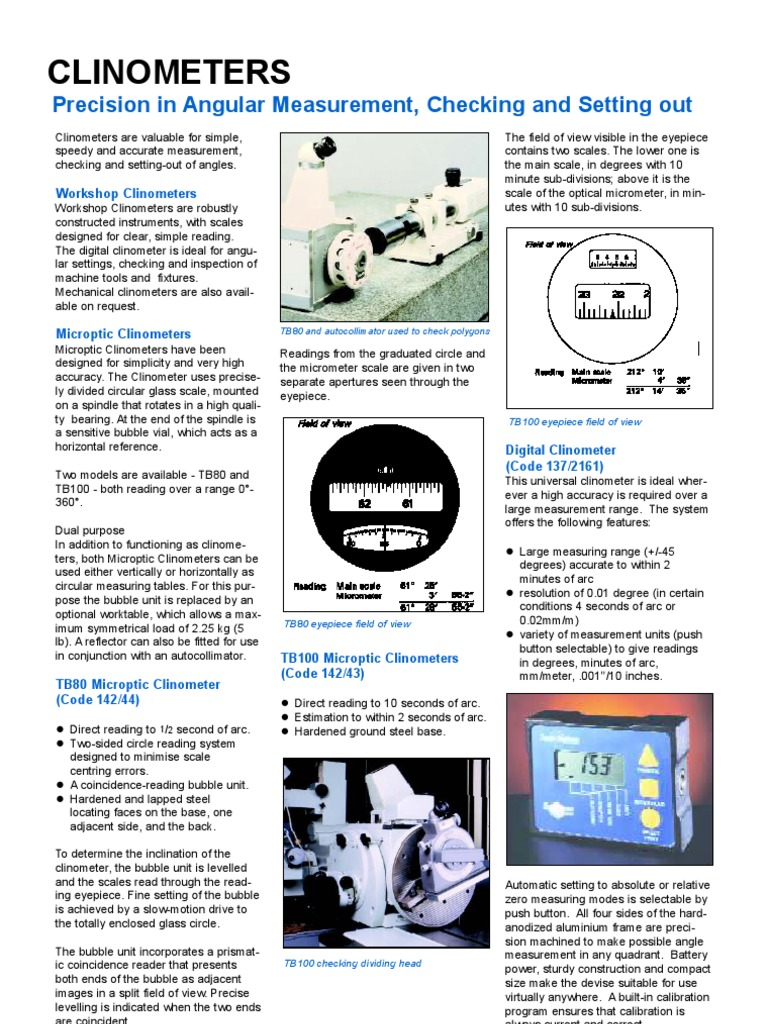 clinometers | Scientific Observation | Equipment