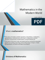 Mathematics in the Modern World