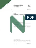 Ntc 1046 Telas.definiciones de Los Defectos