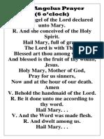 The Angelus Prayer