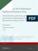 Comienzo de la biblioteca pública en Buenos Aires