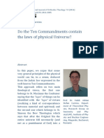 Stefan Carstea - Do the Ten Commandments contain the laws of physical Universe?
