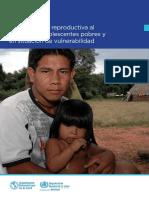 SALUD SEXUAL Y REPRODUCTIVA al alcance de adolescentes pobres y en situación de vulnerabilidad