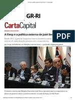 A Fiesp e a Política Externa de José Serra — CartaCapital