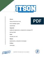 Análisis de Implantación y Evaluación de Estrategias -Transportes Portuarios Del Pacifico