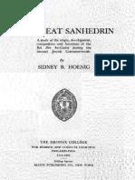 The Great Sanhedrin - S. B. Hoenig