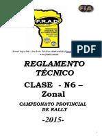 2015 Reglamento N6 Zonal