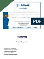 Certificado -SENAI - Finanças Pessoais