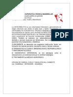 OSTEOMIELITIS SUPURATIVA CRONICA MANDIBULAR.