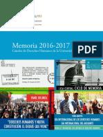 Memoria Derechos Humanos 2016 2017 PDF 243 Mb