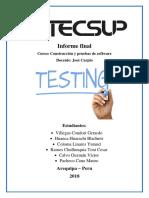 Informe Final Pruebas de Software