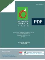 Inta Programa Para El Aumento de La Competitividad de La Industria Del Tomate. Informe de Progresos 2017-2018