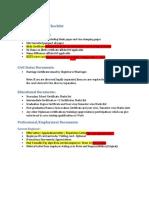 Quebec - Document Checklist