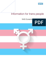 Transgender Cross Programme Screening Leaflet
