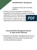 Historical BG of Managementt