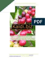 Importing Ethiopian Arabica Specialty Coffee Gudieline
